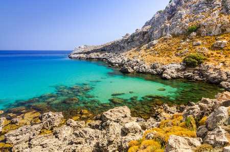 rhodes: Rhodes sea coast Stock Photo