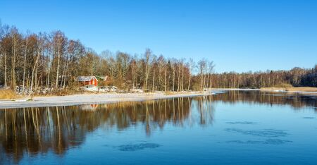 sweden in winter: Winter reflections in Southern Sweden