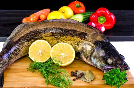 walleye: Walleye fish with vegetables
