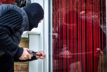 delincuencia: robo en casa Foto de archivo