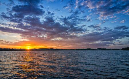 lake sunset: Sunset over the lake