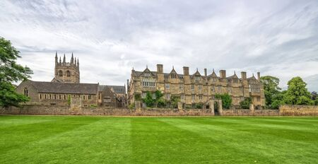 Panorama landscape with Merton College