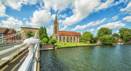 Panoramic summer landscape from Marlow city