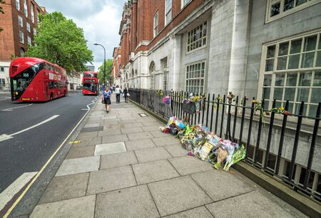 bombings: LONDON, UK - 12 JULY, 2016: Tavistock Square bombing memory place in central of London, UK. Tavistock Square was the scene of one of the four suicide bombings on 7 July 2005. Editorial
