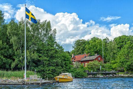 Swedish house on a sea coast