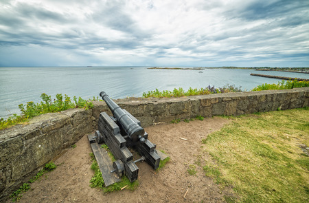 Fort cannon aimed on sea