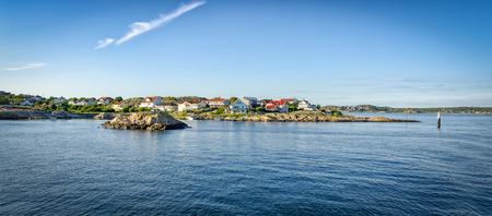 Swedish west coast archipelago in summer panorama Stok Fotoğraf - 87018085