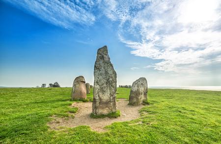 Swedish famous stone circle - Ales Stenar