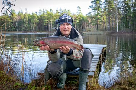 Trout fishing season in autumn