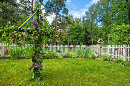 庭院仲夏装饰在瑞典
