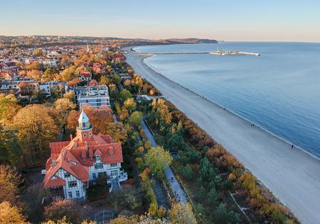 sea line landscape of Sopot Banco de Imagens