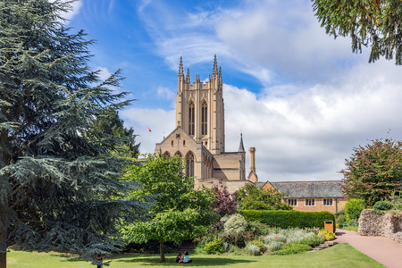 bury: The Abbey Gardens in Bury St Edmunds, UK