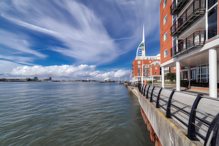 Portsmouth Harbour skyline on a sunny day