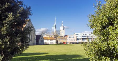 Portsmouth skyline on the UKs South Coast Stock Photo