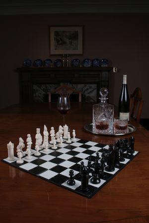 chess set Banco de Imagens