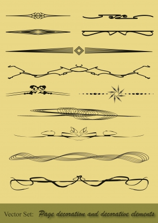 rounding: Some page dividers for various applications on and offline. All editable. Illustration