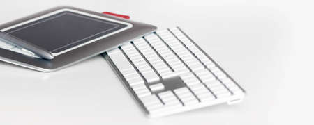 tastatur: moderner Arbeitsplatz Stock Photo