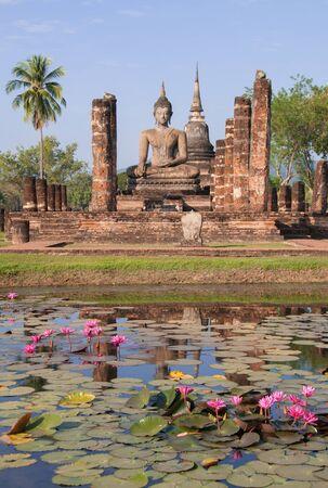 World Heritage Buddhist Temple in Sukkothai , Thailand, Asia photo