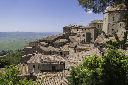 volterra: Lookout in Volterra on a sunny day in summer