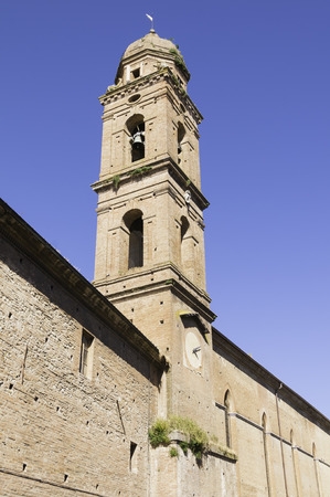 episcopal: The Church of San Niccolo in Siena on a sunny day Stock Photo
