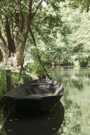 biosphere: River boat at Spreewald, a biosphere reserve in Germany