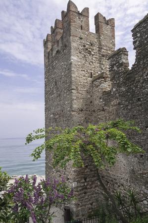 embrasure: Sunny day in Sirmione at beautiful Lake Garda Stock Photo