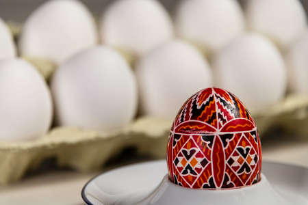 Before And After Decoration Of Traditional Easter Eggs