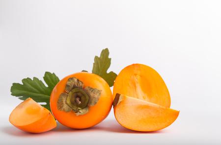 khaki fruit on a white background