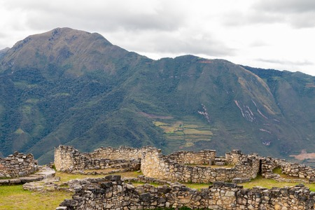 kuelap ruins in the andean mountains of the amazon region of Peru Imagens