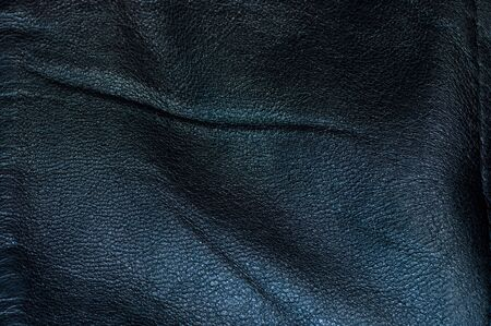 A black leather texture, rough and old