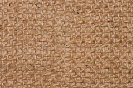 sackcloth: A brown sack textured . Great for backgroundtexture. Stock Photo