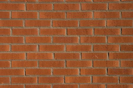A plain brick wall, tile after tile, looks real solid.