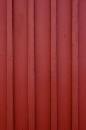 A classic red wooden wall.