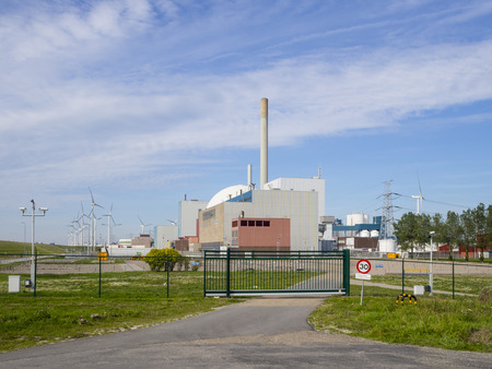 electric generating plant: Nuclear power plant Borssele The Netherlands Stock Photo