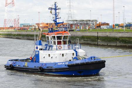 fairplay: Antwerp, Belgium - July 3, 2011: Tugboat Fairplay XIV in the port of Antwerp on July 3, 2011 in Belgium