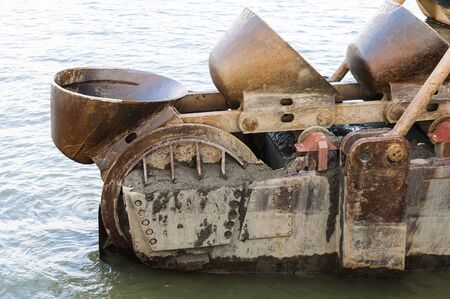 dredger: Part of a dredger in the port of Antwerp