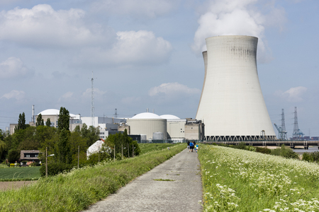 cooling towers: Cooling Towers nuclear power plant Doel Belgium