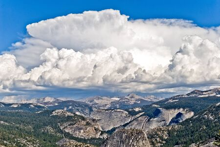 Thunderstorms form quickly during the summer in the high sierra, Yosemite National Park, California