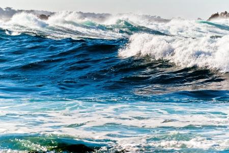 monterey: Surf breaks off the Monterey Peninsula, California.