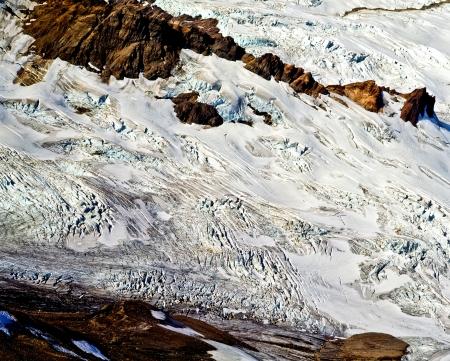 mt baker: Rainbow Glacier flows down the souteast flank of Mt. Baker, Washington.
