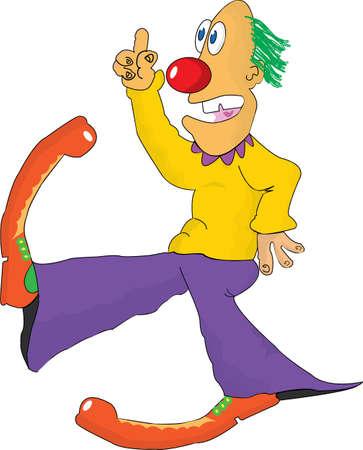 dancing disco clown