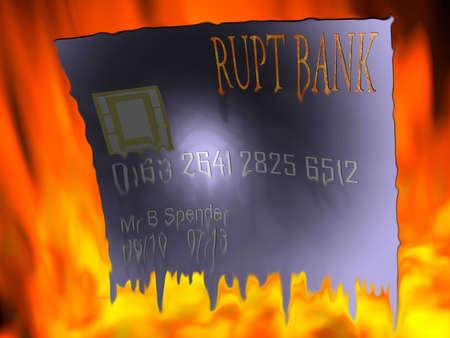 Melting credit card
