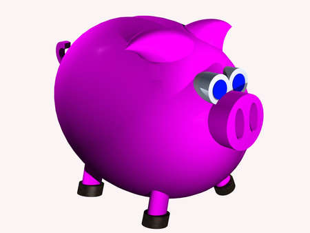 Plastic piggy bank Stock Photo - 4379501