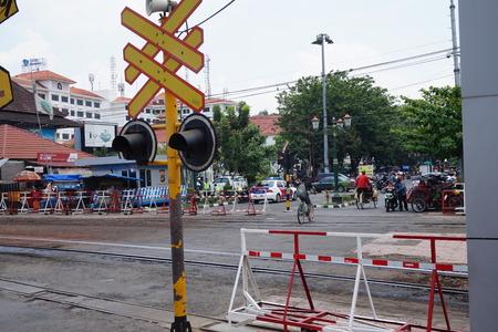 YOGYAKARTA: Railway in Malioboro, Yogyakarta, Indonesia Editorial