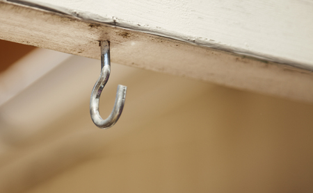 silver hook to hang things on Stock Photo
