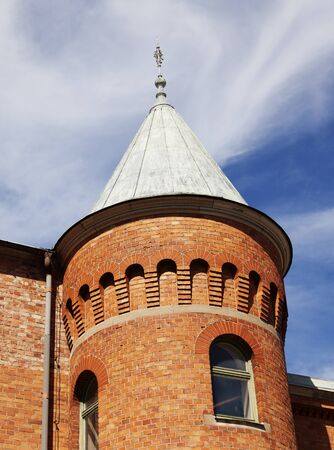 old brick tower in Umea city center
