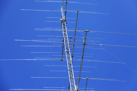 completely crazy mast with lots of antennas in Fallforsan near Umea Imagens