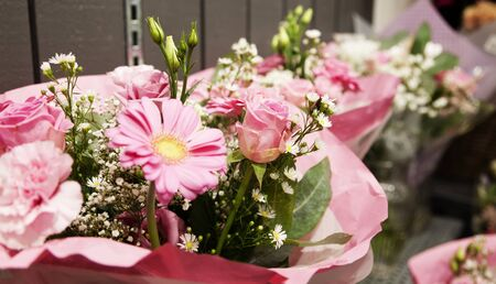 quantities of wedding bouquets for sale at Standpilen in Umea