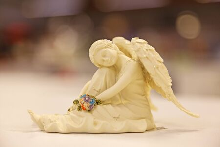 a sitting angel statue in china