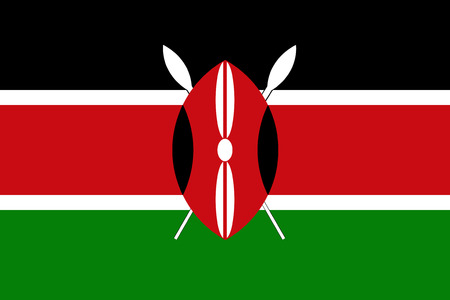 An image of the national flag of Kenya